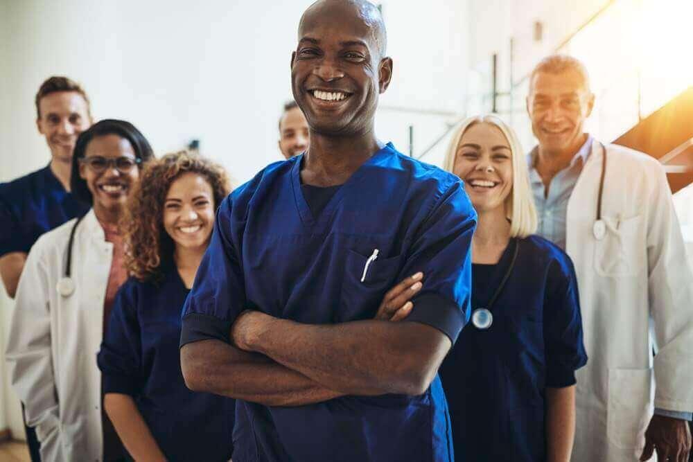 Medical residents posing together