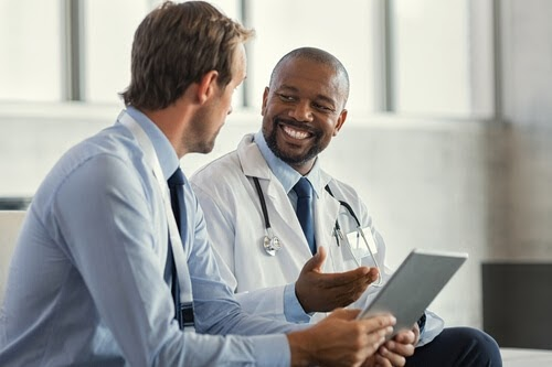 Two physicians talking